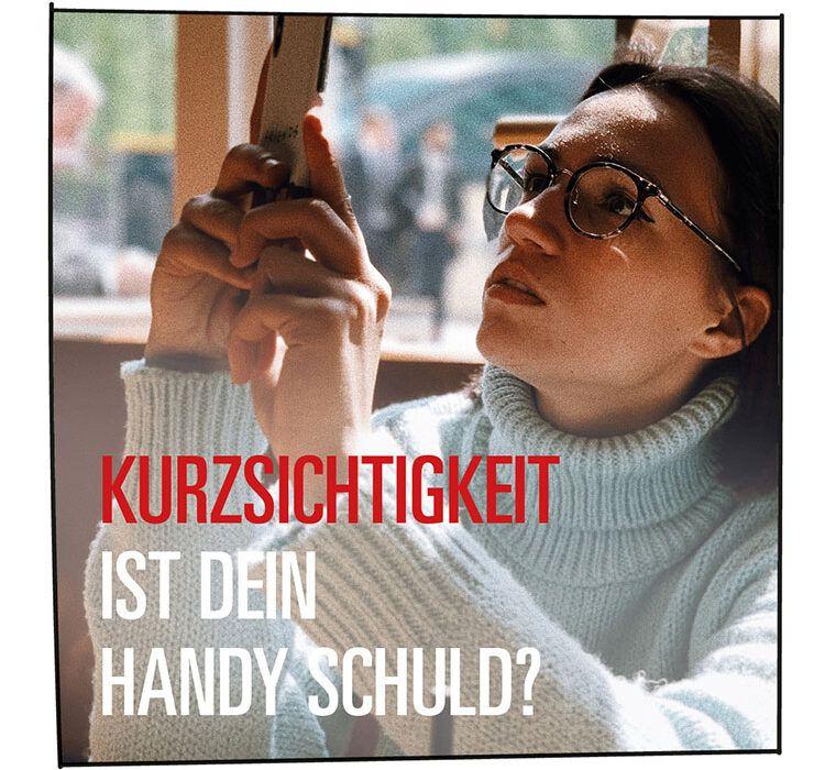 Kurzsichtigkeit: Frau mit Brille